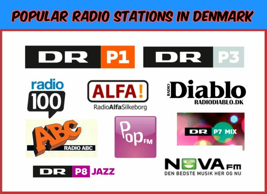 Popular radio stations in Denmark live