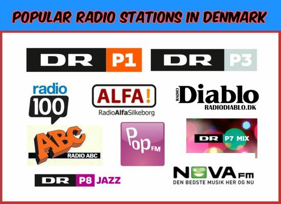 Popular radio stations in Denmark live