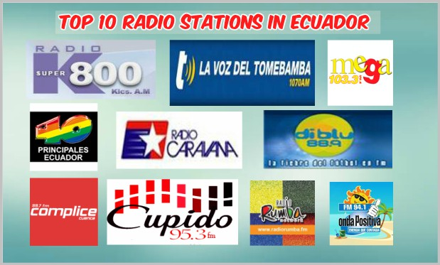 Top 10 radio stations in Ecuador