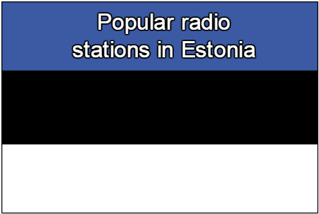 Popular online radio stations in Estonia