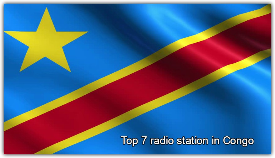 Top 7 radio station in Congo are given here