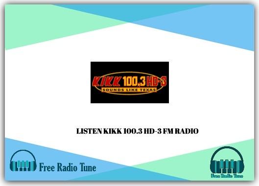 KIKK 100.3 HD-3 FM RADIO