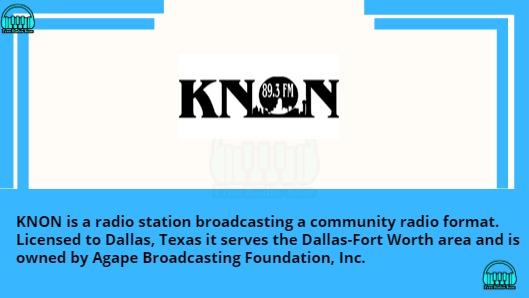 KNON 89.3 FM Playlist